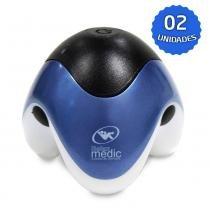 Massageador Portátil com Alimentação USB, Azul, 2 Unidades, PM-30RCH - RelaxMedic - Bivolt - Relaxmedic