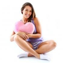 Massageador Portátil, Formato de Coração, RM-CM8608 Rosa - Relaxmedic - Pilhas - Relaxmedic