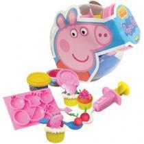 Massinha de Modelar Festa do Cupcake Peppa Pig - Sunny Brinquedos com Acessórios