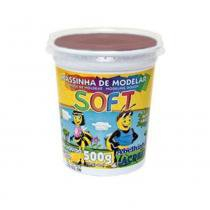 Massinha para Modelar 500g Soft Acrilex - Chocolate -