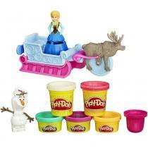 Massinha Play-Doh Disney Frozen - Aventuras de Trenó - Hasbro - Hasbro