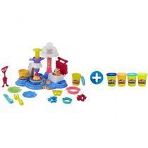 Massinha Play-Doh Festa dos Bolos Hasbro - com Acessórios + Massinha Play-Doh Classic Color