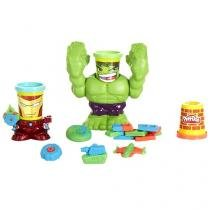 Massinha Play-Doh Marvel Pote Hulk Esmaga - Hasbro com Acessórios