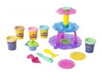Massinha Play-Doh Torre de Cupcakes - Hasbro com Acessórios