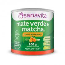 Mate Verde e Matcha - 200 Gramas - Sanavita -