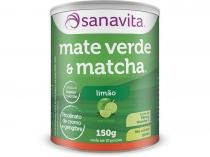 Mate Verde e Matcha Sanavita Limão 150g -