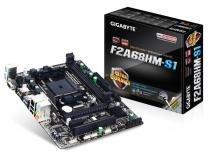 MB P/ FM2+, Chipset A68H, 64GB, DDR3, 1 PCI-E X16, 1 PCI-E X1, 1 PCI, USB3.0, Sata, Micro ATX - Gigabyte