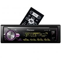Media Receiver Pioneer MVH-X30BR com USB, AUX, Bluetooth e Mixtrax -