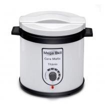 Mega Bell - Aquecedor de Cera - Cera Matic Titânio Profissional Banco e Preto - BIVOLT - Mega Bell