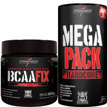 2c5100342 Mega Pack Hardcore 30 Packs + Bcaa Fix 300g - Integralmédica - Integral  medica