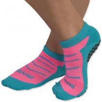 Meia pilates - Azul/Pink - 40-43 - Muvin