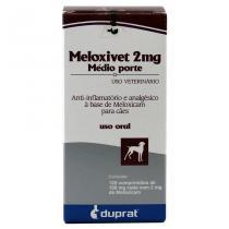 Meloxivet 2 mg Anti-inflamatório c/ 120 comp - Duprat -