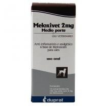 Meloxivet 2mg Anti-inflamatório c/ 10 comprimidos - Duprat - Duprat