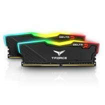 Memoria 16GB Ddr4 2666 (2x 8gb) Delta T Force Preto RGB TF3D416G2666 Team Group -