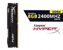 Memória 8GB 2400 Mhz DDR4 HyperX Kingston -