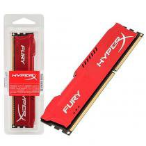 Memória Desktop Gamer Hyper X Hx316c10fr/4 Fury 4GB 1600Mhz Ddr3 Red Kingston - Kingston