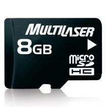 Memory card microsd multilaser 8gb c/adapt. mc004 -