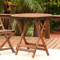 Mesa Articulável Artek Redonda - Markine Mobilier - Marrom - Wood Group