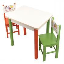 Mesa Com 2 Cadeiras Baby Rabisco De Iniciação 1923 Carlu - Carlu