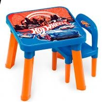 Mesa com Cadeira Hot Wheels - Fun Divirta-Se - Hot Wheels