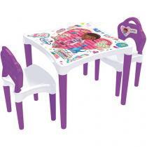 Mesa com Cadeira Infantil Doutora Brinquedos - Xalingo Disney 4 Lugares