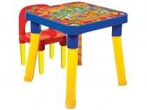 Mesa com Cadeira Infantil Playdoh - Monte Líbano 1 Lugar