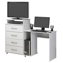 Mesa Computador/Escrivaninha Veneza 4 Gavetas - Politorno