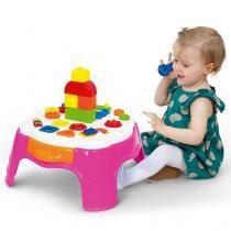 Mesa de atividades play time rosa com gaveta cotiplas 2049 - Cotiplas
