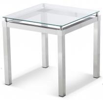 Mesa de Canto em Alumínio com Vidro Incolor 6mm - Sâmia - Sâmia Alumínios