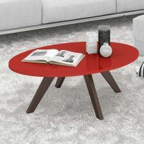Mesa de Centro Alba - Vermelho Laca/Café - Dj móveis