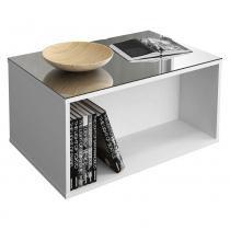 Mesa de Centro Dj Móveis Classic Branco Brilho - DJ Móveis