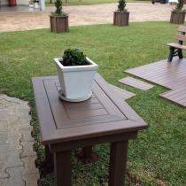 Mesa de Centro em Madeira Plástica InBrasil Marrom - Inbrasil