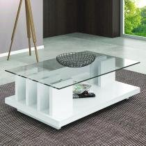 Mesa de Centro New Iris - Branco Laca - Dj Móveis
