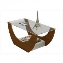 Mesa de Centro Onda Imbuia Amêndoa com Capuccino - Artely -