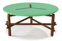 Mesa De Centro Twist Cor Cacau Com Verde Anis - 28874 - Sun house