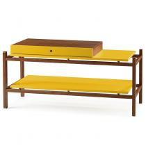 Mesa de Centro Uno Maxima Cacau/Amarelo -
