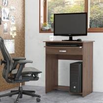 Mesa de Computador Prática com Gaveta - Castanho - Ej
