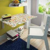 Mesa De Estudo Dobrável Infantil Kids Toys Com 01 Cadeira - Lymdecor - Lymdecor