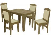 Mesa de Jantar 4 Cadeiras Retangular - Dobuê Movelaria Espanha