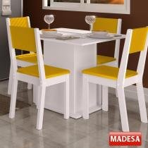 Mesa de Jantar 4 Lugares Colors Amarelo - Madesa