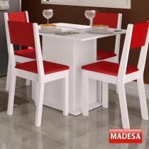 Mesa de Jantar 4 Lugares Colors Vermelho - Madesa