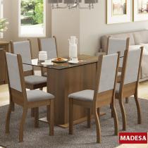 Mesa de Jantar 6 Lugares Amara Rustic/Pérola - Madesa