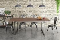 Mesa de Jantar 8 lugares 200x100cm Steel 14002 Artesano -