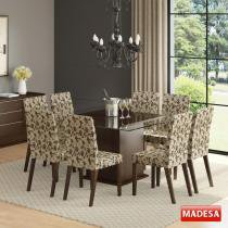 Mesa de Jantar 8 Lugares Carol Marrom - Madesa