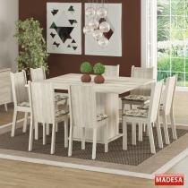 Mesa de Jantar 8 Lugares Clarice Acácia/Lirio/Bege - Madesa