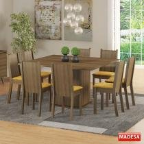 Mesa de Jantar 8 Lugares Clarice Rustic/Palha - Madesa