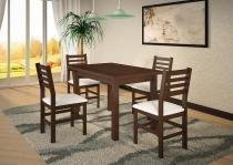 Mesa de Jantar com 4 cadeiras Cristina Castanho em Madeira Maciça - Piratini - Piratini