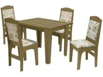Mesa de Jantar com 4 Cadeiras Retangular - Dobuê Movelaria Espanha