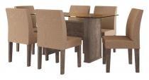 Mesa de Jantar com 6 Cadeiras Europa Terrarum - RV Móveis - RV Móveis