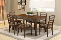 Mesa de Jantar com 6 Cadeiras Firenze Castanho em Madeira Maciça - Piratini - Piratini